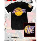 "187 Inc Men's T-Shirt ""LA Ballers"" — Color Black"