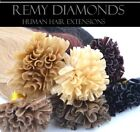 """16""""1G 25's-200's PRE-BONDED, GLUE IN, Indian Remy NAIL TIP HUMAN Hair Extensions"""