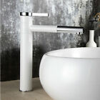 Countertop White Painting Brass Bathroom Basin Faucet Chrome Finish Mixer Tap