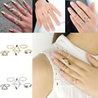 Cool 5pcs Mid Midi Above Knuckle Ring Band Gold Silver Tip Finger Stacking CA