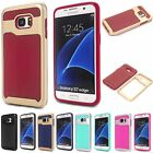 Hybrid Shockproof Dual Color 2in1 Back Case Cover For Samsung Galaxy S7 /S7 Edge