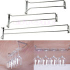 Внешний вид - 27/35/55CM Wine Glass Rack Hanging Stemware Holders Under Cabinet Home Bar New