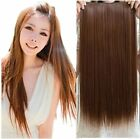 one piece 16inch brazilian Real Human Hair Extensions 1PC 5 clips Clip in 100g