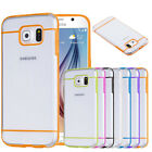 For Samsung Galaxy S6 Rugged PC Transparent Hard Cover Case Skin