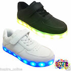 Flash Girls Boys Kids Lace Up Flat Light Up Trainers Pumps Childrens Shoes Size