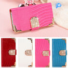 Luxury Rhinestone Diamond Bling Cover Case Wallet Handbag For iPhone 5S/6/6 Plus