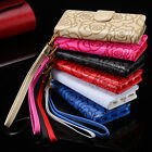 Flower Pattern Wallet Magnetic Leather Flip Case Cover Strap for iPhone 6s Plus