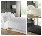 LUXURY HIGH QUALITY SEERSUCKER DESIGN Duvet Cover Bed Set White Cream Black