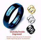 mens promise bands - Personalized Engraved Stainless Steel Lover Couple Band Engagement Promise Ring