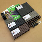 WPC Composite Decking Boards In Grey Black Teak Chocolate With 10 Year Warranty!