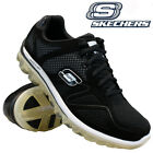 MENS SKECHERS LEATHER RELAXED FIT MEMORY FOAM AIR WALKING TRAINERS SHOES SIZE