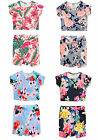 Girls Floral Print Crop Top & Short Co Ord Kids Fashion Outfit New 7-13 Years