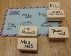 "East of India ""Small Rubber Stamps"" for Love Wedding Christmas. 5 CHOICES."