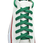 "Flat Shoelace 8 mm ""Kelly Green"" Athletic Sneakers 27"",36"",45"",54"",63"""