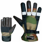 Motorcycle Gloves Thermal Biker Motorbike Cold Weahter Gloves Leather Palm