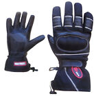 Leather Motorcycle Gloves Thermal Motorbike Biker Winter Gloves Long Wrist