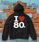 sweatshirt I LOVE 80 'S 80 dj deejay house disk music drums shirt sweat