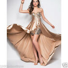 Luxury short front long back evening sequin formal long Party evening dress