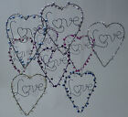 Heart Decoration Various Colours Wedding Love Token Gift Wall Hanging