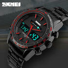 SKMEI Men's Full Stainless Steel #G Waterproof Date Analog LED Digital Watch New