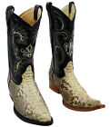 Men Genuine Python Skin Leather Cowboy Western Boots quality slip on boots
