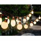 Solar Deluxe 20 Bright LED Solar Festoon Party Lights Clear Bulb WarmWhite White