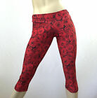 Rose Flower Capri Pants Low Rise Yoga Legging SXYfitness XXS-XXL Made in USA