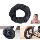 2Pcs Baby Carriage Stroller Wheels Covers Anti-dirty Pram Buggy Accessory Black