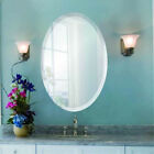 Oval Frameless Wall Mirror with Beveled Edge Bathroom Unframed - Spancraft