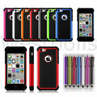 Heavy Duty Hybrid Hard Rugged Shockproof Silicone Rubber Case For iPhone 5C 5 C