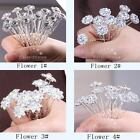 Crystal Diamante Flowers Hair Pins Jewelry Bridal Prom Party Wedding&Craft DIY!