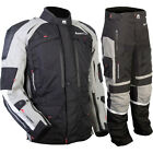 MotoDry NEW Advent-Tour Motorcycle Black Grey Offroad Adventure Jacket & Pants