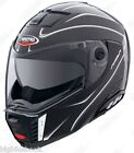 Caberg Sintesi Shadow Black Motorcycle Helmet Flip Front Small