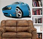 2010 Dodge Challenger SRT8 WALL GRAPHIC DECAL MAN CAVE ROOM GARAGE 6762