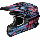 Shoei VFX-W DISSENT MX Motorcycle Helmet black purple blue TC7