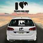 Car Sticker sticker Car foil Car lettering i love French Bulldog