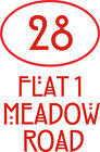 2 x Sets Wheelie Bin/Dustbin Number & Name 3 lines - stickers decals  - choices
