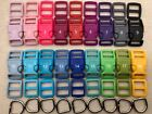 10 Sets, 5/8'' (15mm) Dog Collar Hardware Kits- 18 Color Choices