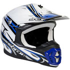 Spada Violator MX Off Road Motorcycle Helmet Hawk White Blue