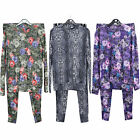 Ladies Floral & Snake Print Loungewear Set Joggers Women Tracksuit Pants 8-14