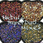 Czech Glass NEBULA FINISH SuperDuo MIXES - 2.5x5mm - 20g * Choose your colors *