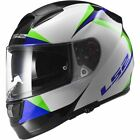 LS2 FF397 Vector Motorcycle Bike Full Face Crash Helmet Labyrinth White Blue