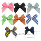 New Satin/Grosgrain/Dots/Gingham Ribbon Hand-Tied Bow Handmade Crafts