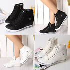 Flats Heels Wedge Platform Trainers High Sneakers Boots Ankles Lace up Shoes BLU