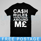 CASH RULES FUCKDOWN DISOBEY TRAPSTAR 40OZ OBEY WASTED YOUTH LAST KINGS T SHIRT