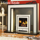 CRYSTAL FIRES ROYALE SLIMLINE INSET GAS FIRE - CHROME
