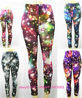US SELLER Women Colorful GalaxyPrint Leggings Stretchy Jeggings Pencil Pants 126