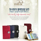 ANTOT Crystal Jewelry Handmade Diary Smartphone Case Wallet For iPhone, Galaxy