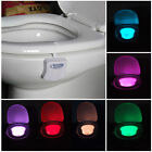 LED Toilet Bathroom Night Light Human Motion Activated Seat Censor 8 - Colors