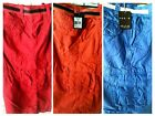 Galaxy By Harvic Cargo shorts, with two tone belt multi-pockets 100% cotton